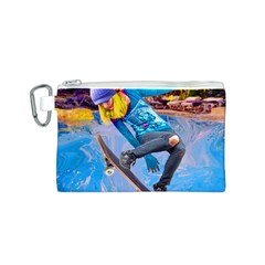 Skateboarding On Water Canvas Cosmetic Bag (s)