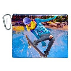 Skateboarding On Water Canvas Cosmetic Bag (xxl)