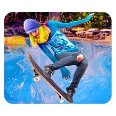 Skateboarding On Water Double Sided Flano Blanket (small)