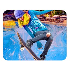 Skateboarding on Water Double Sided Flano Blanket (Large)