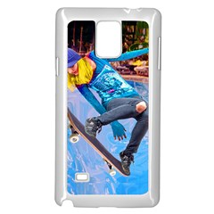 Skateboarding on Water Samsung Galaxy Note 4 Case (White)