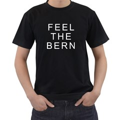 Feel The Bern On Dark Men s T-Shirt (Black) (Two Sided)