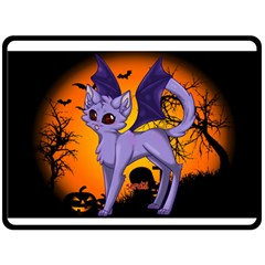 Seruki Vampire Kitty Cat Double Sided Fleece Blanket (Large)