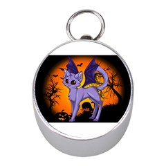 Seruki Vampire Kitty Cat Mini Silver Compasses