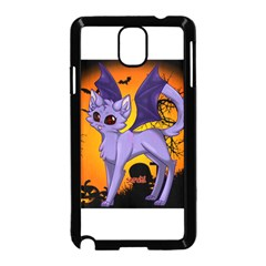 Seruki Vampire Kitty Cat Samsung Galaxy Note 3 Neo Hardshell Case (Black)