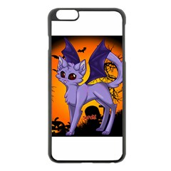 Seruki Vampire Kitty Cat Apple iPhone 6 Plus Black Enamel Case