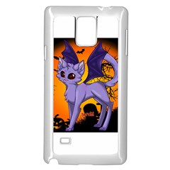 Seruki Vampire Kitty Cat Samsung Galaxy Note 4 Case (White)