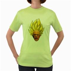 Super Bernie Women s Green T-Shirt
