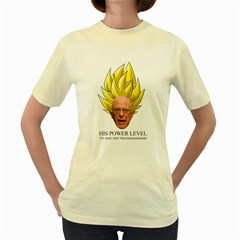 Super Bernie Over Nine Thousand Women s Yellow T-Shirt