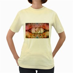 Nature and Human Forces Women s Yellow T-Shirt
