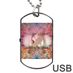 Cell Phone   Nature Forces Dog Tag Usb Flash (one Side)