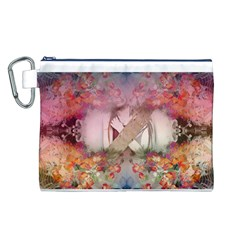 Cell Phone - Nature Forces Canvas Cosmetic Bag (L)