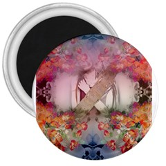 Nature And Human Forces Cowcow 3  Button Magnet