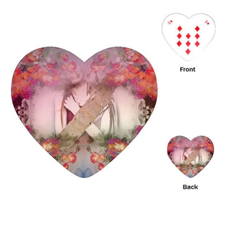 nature and human forces cowcow Playing Cards Single Design (Heart)
