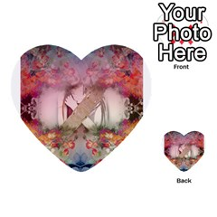 Nature And Human Forces Cowcow Multi-purpose Cards (Heart)