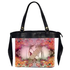 Nature And Human Forces Cowcow Office Handbags (2 Sides)