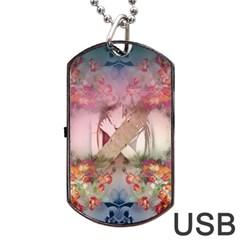 Nature And Human Forces Cowcow Dog Tag USB Flash (One Side)