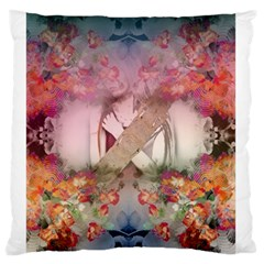 Nature And Human Forces Cowcow Large Flano Cushion Cases (One Side)