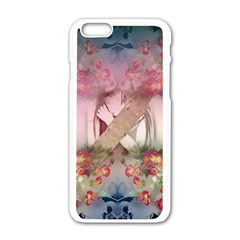 Nature And Human Forces Cowcow Apple Iphone 6 White Enamel Case