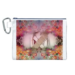 Nature And Human Forces Cowcow Canvas Cosmetic Bag (l)
