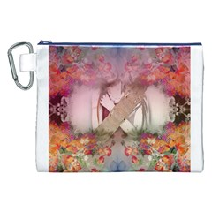 Nature And Human Forces Cowcow Canvas Cosmetic Bag (XXL)
