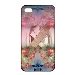 Nature And Human Forces Cowcow Apple Iphone 4/4s Seamless Case (black)