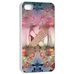 Nature And Human Forces Cowcow Apple iPhone 4/4s Seamless Case (White) Front