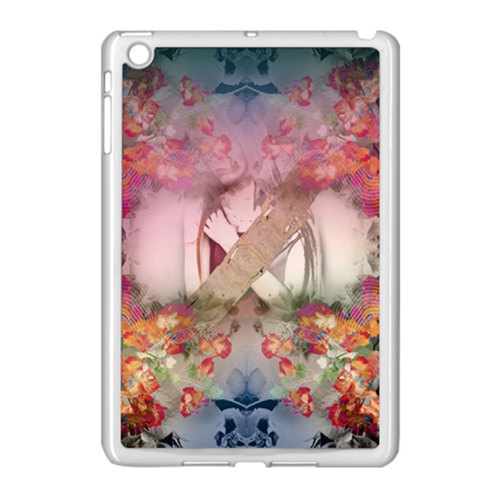 Nature And Human Forces Cowcow Apple iPad Mini Case (White)