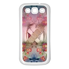 Nature And Human Forces Cowcow Samsung Galaxy S3 Back Case (white)