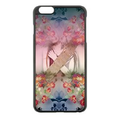 Nature And Human Forces Cowcow Apple iPhone 6 Plus Black Enamel Case