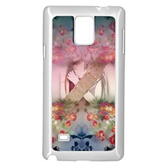 Nature And Human Forces Cowcow Samsung Galaxy Note 4 Case (White)