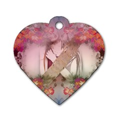 Watch Dog Tag Heart (one Side)