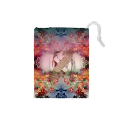 Nature and Human Forces Drawstring Pouches (Small)