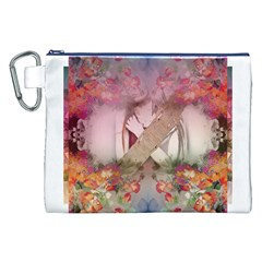 Nature and Human Forces Canvas Cosmetic Bag (XXL)