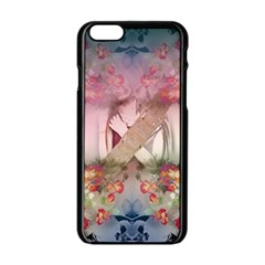 Nature and Human Forces Apple iPhone 6 Black Enamel Case