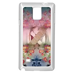 Nature and Human Forces Samsung Galaxy Note 4 Case (White)