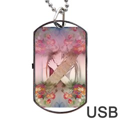 Nature and Human Force Dog Tag USB Flash (One Side)