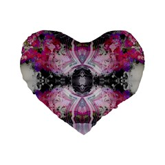 Natureforces Abstract Standard 16  Premium Flano Heart Shape Cushions