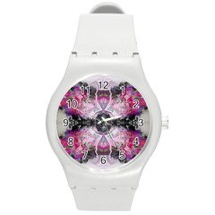 Natureforces Abstract Round Plastic Sport Watch (m)