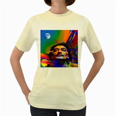 Dream Of Salvador Dali Women s Yellow T-Shirt
