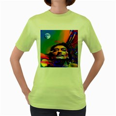 Dream Of Salvador Dali Women s Green T Shirt