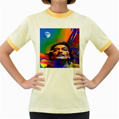 Dream Of Salvador Dali Women s Fitted Ringer T Shirts