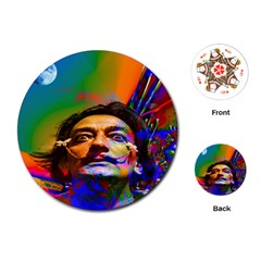 Dream Of Salvador Dali Playing Cards (round)