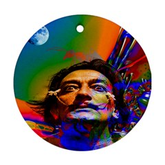 Dream Of Salvador Dali Round Ornament (two Sides)