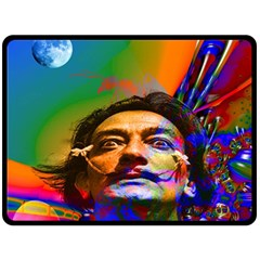 Dream Of Salvador Dali Double Sided Fleece Blanket (Large)