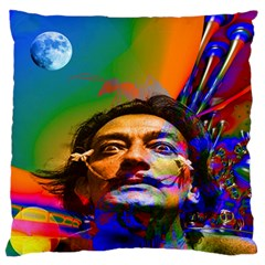 Dream Of Salvador Dali Large Flano Cushion Cases (Two Sides)