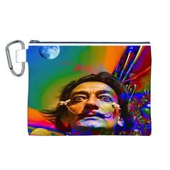 Dream Of Salvador Dali Canvas Cosmetic Bag (L)