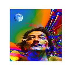 Dream Of Salvador Dali Small Satin Scarf (Square)