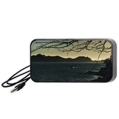 Landscape Aerial View Of Taganga In Colombia Portable Speaker (black)