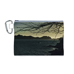 Landscape Aerial View Of Taganga In Colombia Canvas Cosmetic Bag (M)